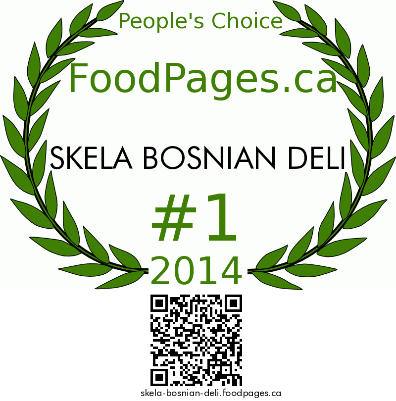 SKELA BOSNIAN DELI FoodPages.ca 2014 Award Winner