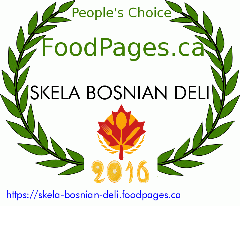 SKELA BOSNIAN DELI FoodPages.ca 2016 Award Winner