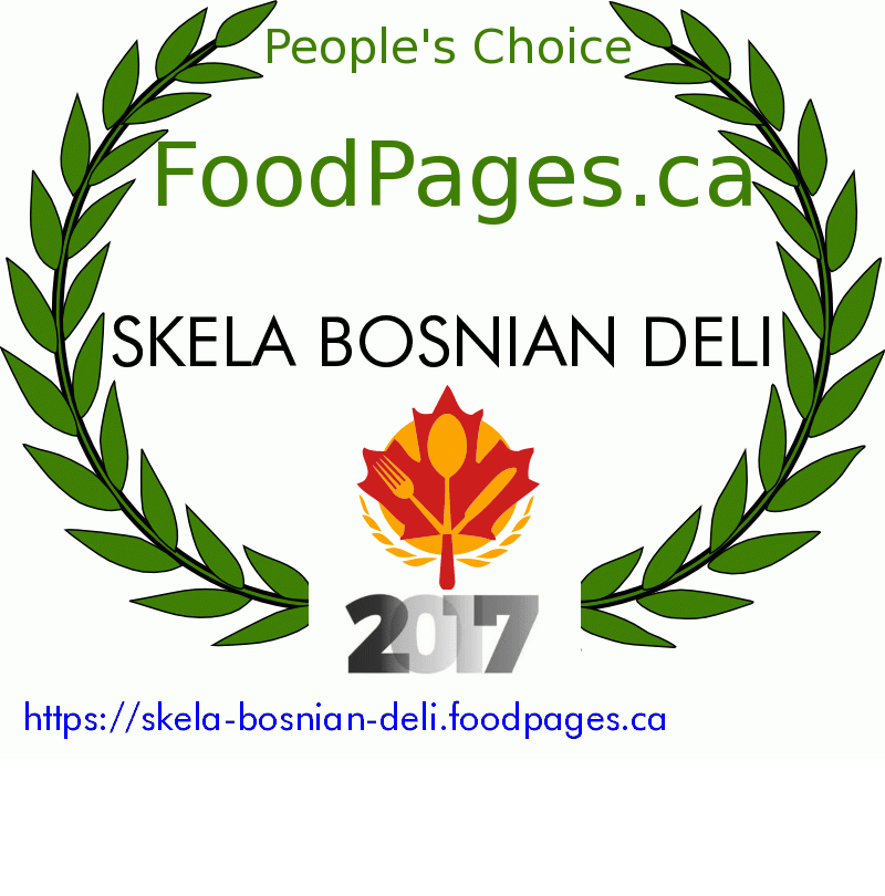 SKELA BOSNIAN DELI FoodPages.ca 2017 Award Winner